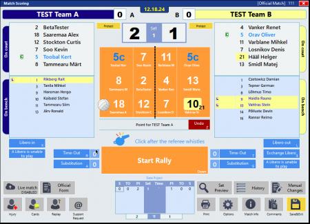 eScoreSheet #2 - расстановка и использование протокола во время игры
